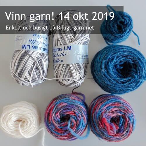 Vinn filtbart ullgarn och bomullsgarn i oktobertävlingen 2019!