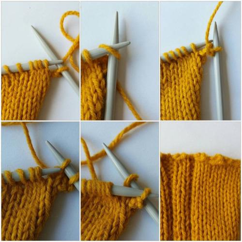 En stickad picotkant blir en elastisk avslutning eller avmaskning.