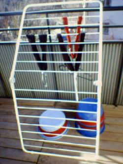 Torka garn på balkong