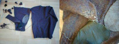Slaktfärdig stickad tröja med ärmlappar, del 2