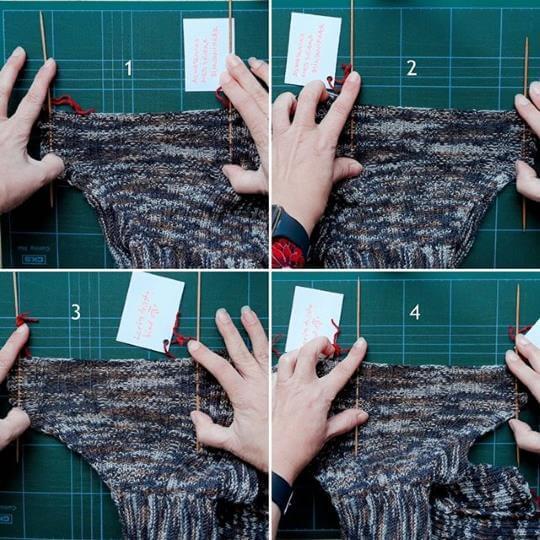 Vilken sorts stickad avmaskning är mest elastisk? Här har vi en vinnare bland fyra exempel!