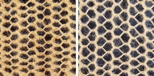 Sticka tuniskiskt hålmönster = omslag och vänsterlutande minskning, överdragshoptagning.