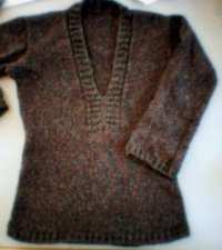 Sahara, tröja stickad i återvunnen ull/silke