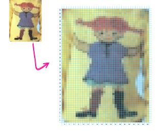 Fixa ditt eget stickmönster på Pippi Långstrump
