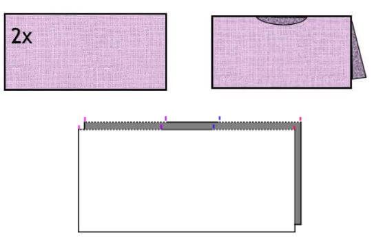 Sticka eller virka en poncho av 2 rektanglar. Gratis diagram och beskrivning.