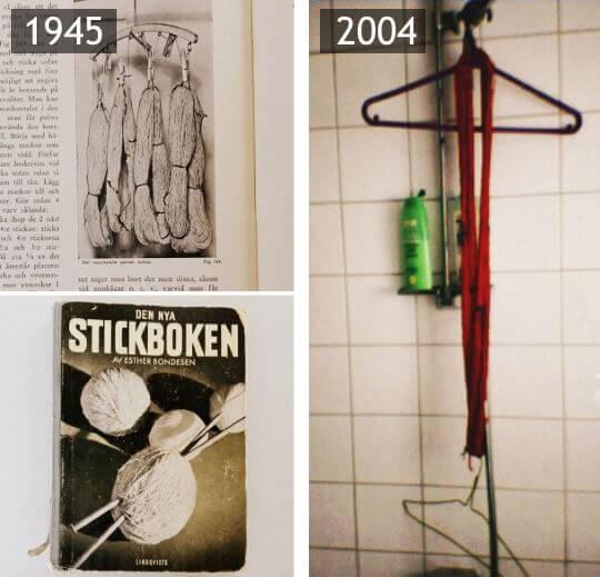 Garnåtervinning 1945 och 2004, nästan 60 år emellan. Men samma sak!