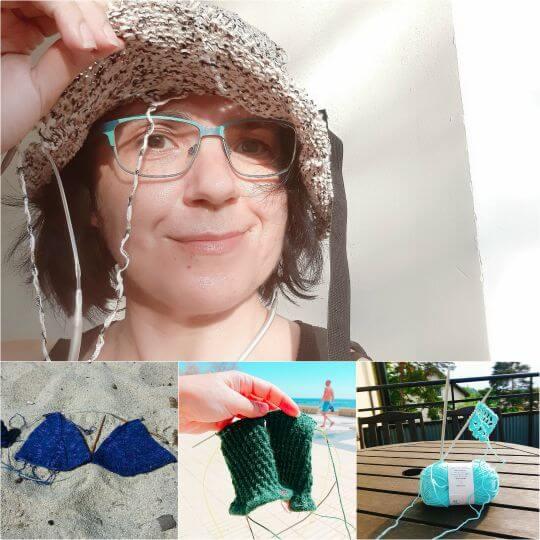 Ska du sticka en solhatt eller virka en bikini bara för att det är sommar? Strumpor, vantar och luftiga saker passar också bra.