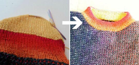 Ska du sticka resår till en halskant, eller till ärmmuddar? Satsa på en dubbel resårkant istället för elastisk avmaskning!