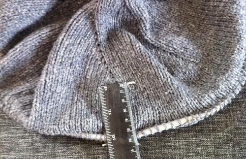 Sticka en basker, steg 5: sticka i 5 cm utan ökningar.