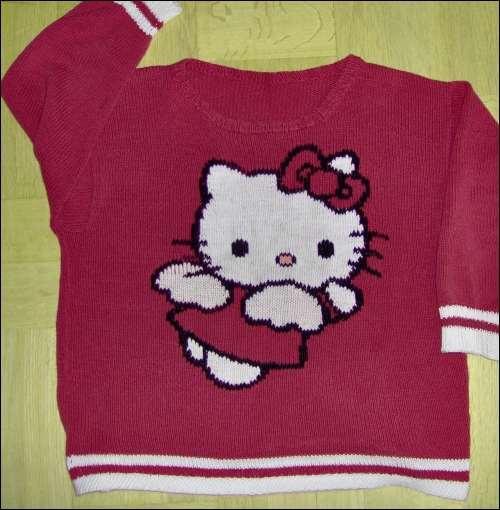 Sticka Hello Kitty-tröja utan färdigt mönster
