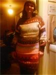 Majas stickade klänning