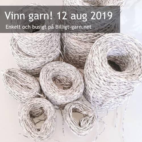 Vinn återvunnet bomulls-bandgarn i augusti 2019. Det är prickigt!