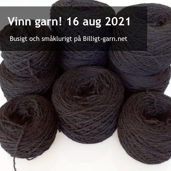 Vinn tunt, återvunnet, svart ullgarn i augustitävlingen 2021!