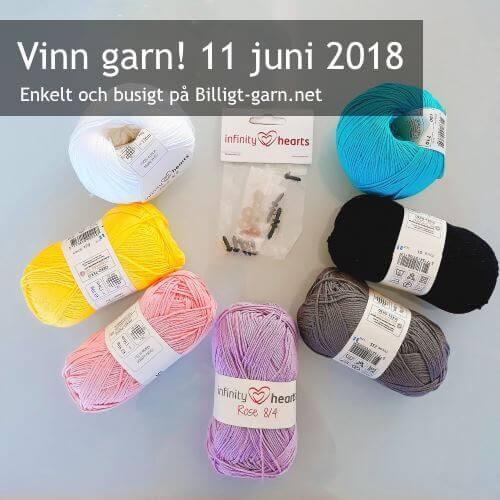 Vinn garnpaket med bomullsgarn och säkerhetsögon i juni 2018