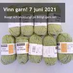 Vinn två sorters bomull/lin-blandgarn i matchande gröna nyanser i juni 2021!