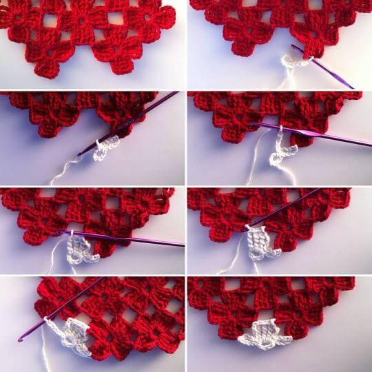 Virka blommor av restgarn: behöver du virka en halv blomma för att komplettera dina verk? Steg för steg-beskrivning.