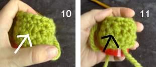 Amigurumi, olika sätt att minska i virkning