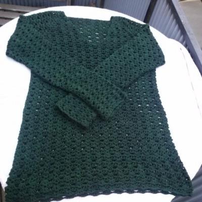 Blockning av tröja, utan en enda knappnål, på en handduk