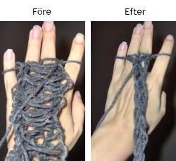 fingervirkning av snodd eller orm