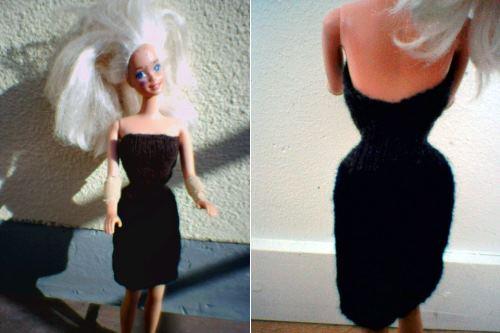 Sticka en Barbie-klänning, gratis beskrivning