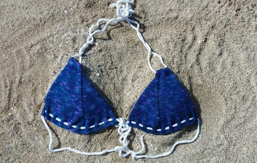 Sticka en bikini efter mönster från Järbo garn.