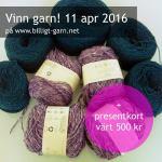 Vinn silkesgarn och presentkort på garn i april 2016