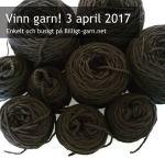Vinn svart merinoull-garn i april 2017