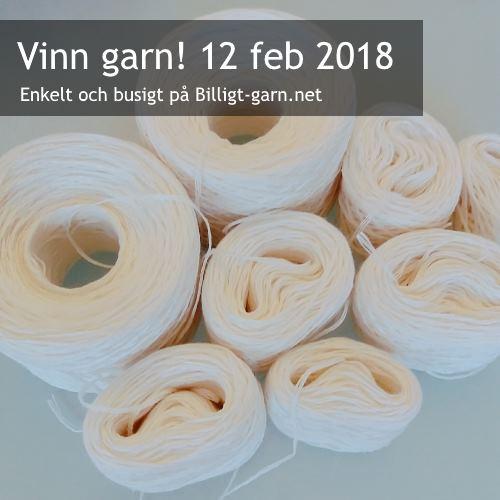 Vinn vitt (blekt) återvunnet lingarn i febrauri 2018