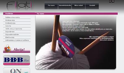 Filatis webbplats i december 2018