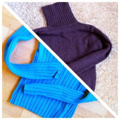 Två tröjor = ett par vantar + en massa nystan.