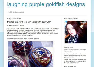 'Crazy yarn', eller magiska nystan av garnstumpar och restgarn.