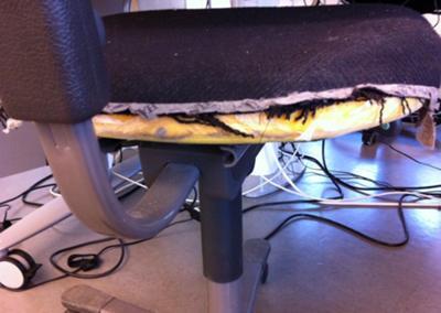Inget fel på den här stolen!