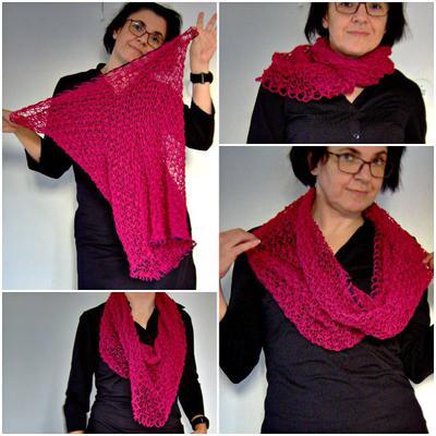 O, så många sätt att bära den magiska sjalen! Men det finns fler.