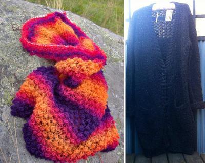 Tweedtröjan var i sitt föregående liv en magisk sjal i Zauberball + en begagnad H&M-kofta.