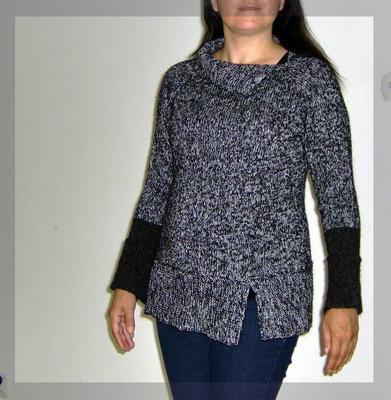 Metallic plus fluff! Perfekt kombination för en höst- eller vår-tröja.
