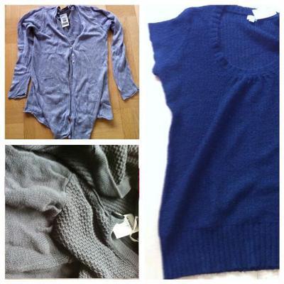 Tre begagnade plagg har alltså återfötts i samma stickade tröja.