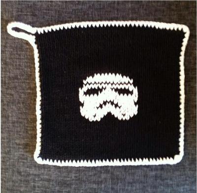 Och på den andra sidan av Star Wars-grytlappen: Stormtrooper.